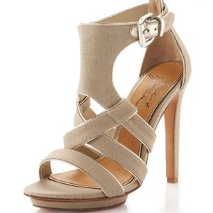 Badgley Mischka Meg Canvas Platform Pump Size 7.5M